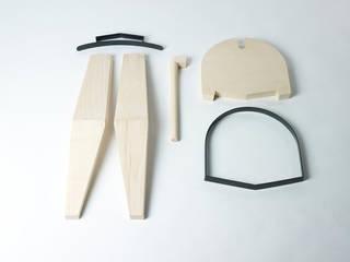 Dowels: rustic  by AdriAn Blanc Design Studio, Rustic