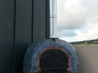 Roof terrace oven by wood-fired oven Сучасний