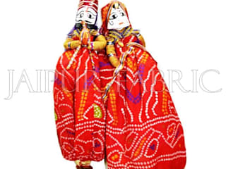 Rajasthani Handmade Puppets: asian  by Jaipur Fabric,Asian