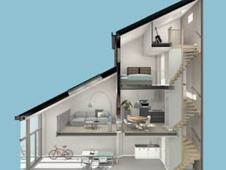 wonen in de ijzergieterij van architectenburo frans van roy Industrieel