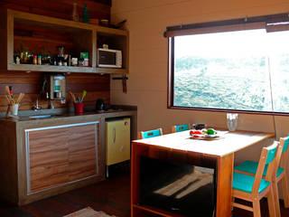Cabana Arquitetos Cocinas de estilo rústico Madera