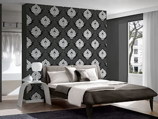 5543-14 Black & White 2 - A.S. Creation Vliestapete: moderne Wohnzimmer von TAPETENMAX® - Kröger GmbH