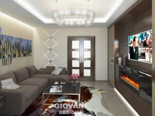 Квартира для молодой семьи: Гостиная в . Автор – Giovani Design Studio