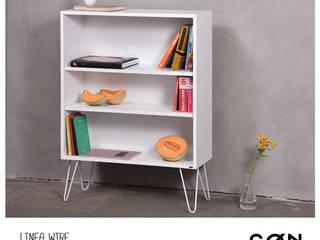 Biblioteca Wire:  de estilo  por SØN Muebles