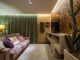 Modern Multimedya Odası Melina Mundim | Design de Interiores Modern