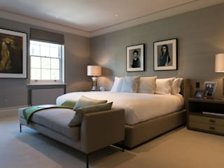 ​Bedroom at Bedford Gardens house. Modern style bedroom by Nash Baker Architects Ltd Modern