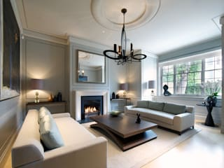 ​Sitting room Bedford Gardens house. :  Living room by Nash Baker Architects Ltd