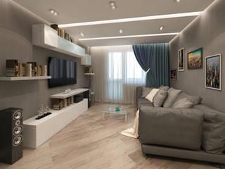 Лето Дизайн Living room Grey