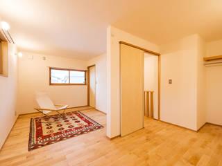 2階子供室(将来間仕切り予定): 株式会社山口工務店が手掛けた子供部屋です。