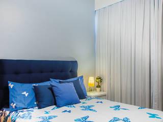 Millena Miranda Arquitetura Phòng ngủ phong cách chiết trung Lụa