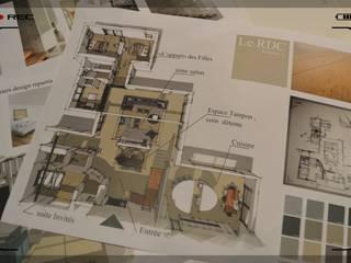 Agencement  Maison neuve contemporaine En Ardèche:  de style  par EVIDENCES CREATIONS