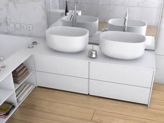 Łazienka w nowoczesnym wydaniu Nowoczesna łazienka od Luxum Nowoczesny