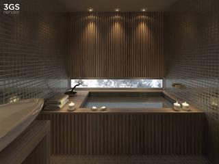 3GS Render Baños modernos de 3GS render Moderno