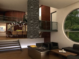 Salas modernas de TREVINO.CHABRAND   Architectural Studio Moderno