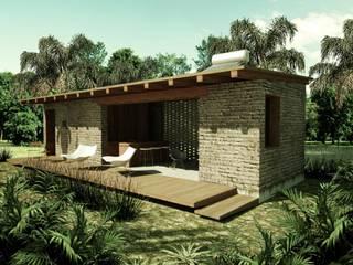 Casas de estilo rural por GET ARQUITECTURA