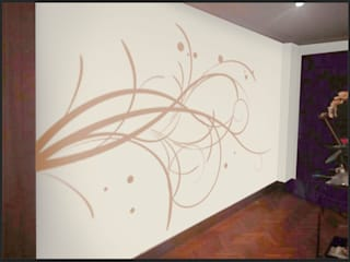 Vinilo decorativo personalizado para pasillo Paredes y suelos de estilo ecléctico de Deseñarte Ecléctico