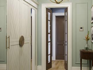 MARION STUDIO Eclectic style corridor, hallway & stairs Green