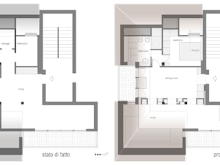 Loft Parco Nomentano - Roma in&outsidesign Pareti & Pavimenti in stile moderno
