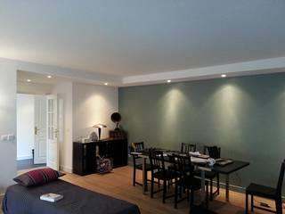 aménagement d'un appartement (Lyon, Rhône) Salon moderne par atacama architecture Moderne