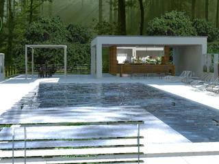 Jardines de estilo moderno de 3d Casa Design Moderno