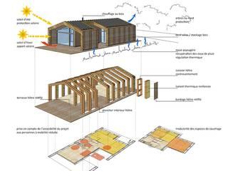 hêtre des Vosges (Vosges): Maisons de style de style Moderne par atacama architecture
