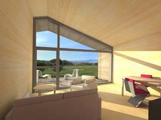 hêtre des Vosges (Vosges): Salon de style de style Moderne par atacama architecture