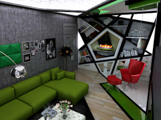 غرفة المعيشة تنفيذ Abb Design Studio