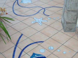 Il mosaico dentro e fuori casa.: Pareti in stile  di Mosaico Riccio