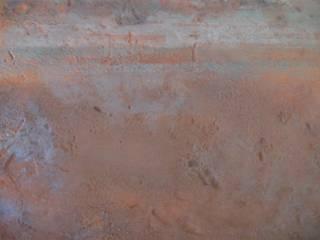 texture et matière: rouille et fer Murs & Sols industriels par les ateliers decodalice Industriel