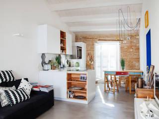 Ossigeno Architettura Mediterranean style living room
