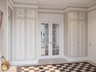 MARION STUDIO Eclectic style corridor, hallway & stairs Beige