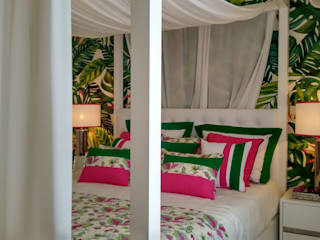 Tropical style bedroom by Andreia Louraço - Designer de Interiores (Contacto: atelier.andreialouraco@gmail.com) Tropical