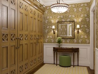 MARION STUDIO Classic style corridor, hallway and stairs Yellow