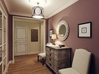 MARION STUDIO Eclectic style corridor, hallway & stairs