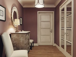 MARION STUDIO Eclectic style corridor, hallway & stairs Multicolored
