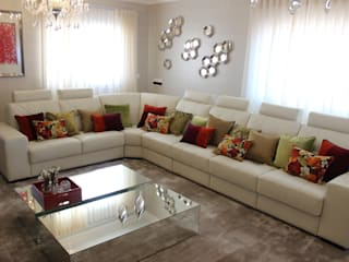 Andreia Louraço - Designer de Interiores (Email: andreialouraco@gmail.com) Salas/RecibidoresSofás y sillones Piel Blanco