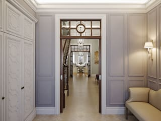 MARION STUDIO Classic style corridor, hallway and stairs Multicolored