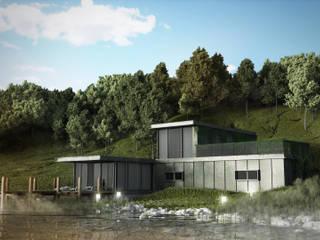 Visualizzazione Lake House: Case in stile  di Loudlab