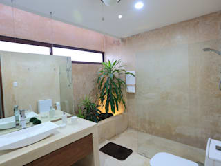 FGO Arquitectura Tropical style bathrooms Natural Fibre Beige