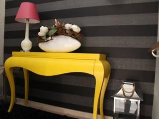 Andreia Louraço - Designer de Interiores (Email: andreialouraco@gmail.com) Pasillos, vestíbulos y escaleras de estilo moderno Madera Gris