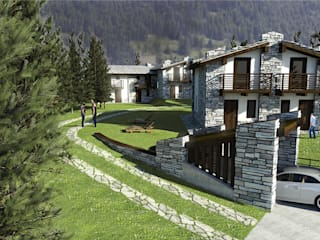 Chalet: Case in stile  di Damiano Ferrando | Architectural Visualization |
