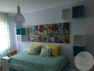 Andreia Louraço - Designer de Interiores (Email: andreialouraco@gmail.com) Cuartos infantiles de estilo moderno Madera Amarillo