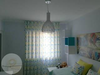 Andreia Louraço - Designer de Interiores (Email: andreialouraco@gmail.com) Cuartos infantiles de estilo moderno Madera Azul