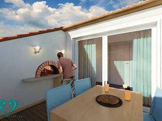Terrasse de style  par Damiano Ferrando | Architectural Visualization |, Moderne