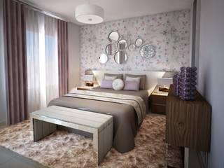 Andreia Louraço - Designer de Interiores (Email: andreialouraco@gmail.com) Cuartos de estilo moderno Morado/Violeta