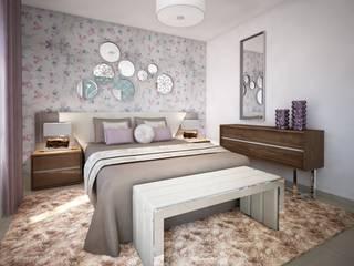 Andreia Louraço - Designer de Interiores (Email: andreialouraco@gmail.com) Cuartos de estilo moderno Multicolor
