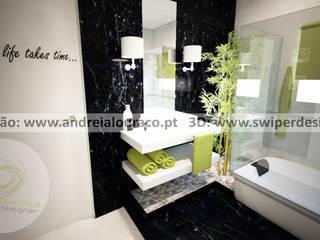 Andreia Louraço - Designer de Interiores (Email: andreialouraco@gmail.com) Baños de estilo clásico Verde