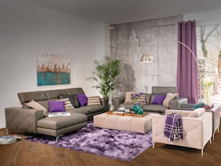 Salas / recibidores de estilo  por Domicil Möbel GmbH