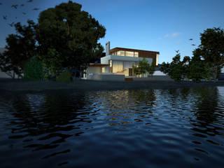 Fachada Exterior - Vista sobre el lago Casas modernas: Ideas, imágenes y decoración de Gliptica Design Moderno Madera Acabado en madera