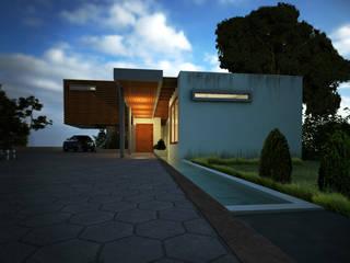 Fachada Principal - Vista de acceso: Casas de estilo moderno por Gliptica Design